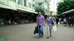 Stock Video Footage of Alanya Turkey Turkish Tourist Paradise 76 downtown bazaar