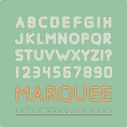 Retro marquee font Stock Illustration