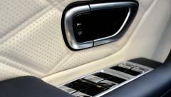 Car door - white leather - electric windows control panel Arkistovideo