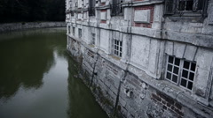 Wall detail of chateau de Beaumesnil Stock Footage