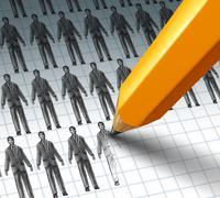 Hiring employees Stock Illustration