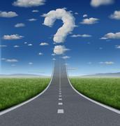 success questions - stock illustration