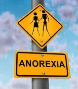 Anorexia disease Stock Illustration