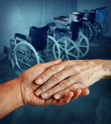 Stock Illustration of disabled elderly