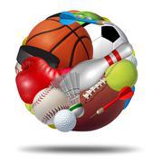 sports ball - stock illustration