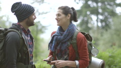 Couple hiking Stock Footage