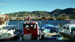 Alanya Turkey Turkish Tourist Paradise 92 port - stock footage