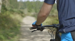 Man cycling Stock Footage