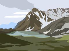 Stock Illustration of Mountains landscape