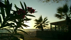 Stock Video Footage of Mediterranean Sunset Silhouette 2 leander