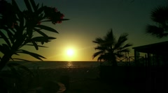 Stock Video Footage of Mediterranean Sunset Silhouette 3 leander