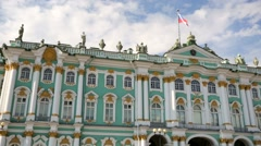 View of Hermitage Museum or Winter Palace. Stock Footage