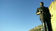 Mustafa Kemal Ataturk Statue in Alanya Turkey 4 Stock Footage