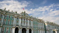 View of Hermitage Museum or Winter Palace. - stock footage