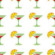 Martini seamless vector pattern Stock Illustration
