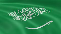 saudi arabian flag - stock photo