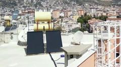 Stock Video Footage of Alanya Turkey Turkish Tourist Paradise 113 rooftop