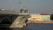 Stock Video Footage of Blagoveshchensky drawbridge. Saint-Petersburg. 4K.
