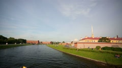 View of the St. Peter and Paul fortress. Stock Footage