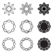Endless Celtic Knots Patterns - stock illustration