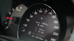 Car speedometer with 120 km/h speed - stock footage
