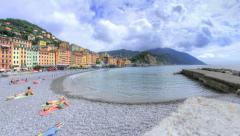 Vivid Camogli Beach Liguria Italy - 30FPS 4K UHD Stock Footage