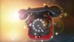 Retro aged phone at sun light Stock Footage