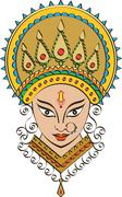 Durga goddess of power Stock Illustration