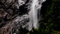 Staubbach falls from Lauterbrunnen valley Stock Footage
