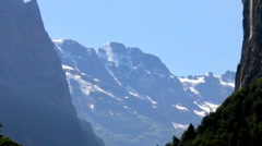 Switzerland berner Oberland. View from  Lauterbrunnen valley - stock footage