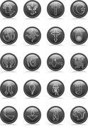 icon religion set - stock illustration