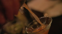 Pouring Cocktail Stock Footage