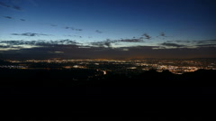San Fernando Valley Mountain View Sunrise Time Lapse Stock Footage