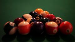Breaking Balls on Pool Table Stock Footage