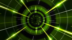 Flight in abstract futuristic tunnel, 3d animation Stock Footage