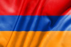 Armenia flag Stock Illustration