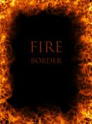 fire border - stock illustration
