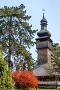 greek-catholic church of the holy archangel michael. - stock photo