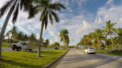 1080 Haulover to Bal Harbour Stock Footage