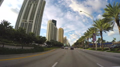 1080 Sunny Isles Drive-through Stock Footage