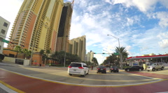 1080 Sunny Isles Drive-through 2 Stock Footage