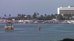 Large Boat on Intracoastal Waterway Stock Footage