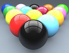 Billiard balls - stock illustration