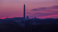 Washington DC Sunrise Time Lapse Stock Footage