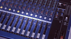 Sound audio  board , recording the voice in the music film studio Stock Footage