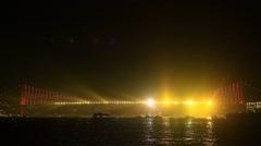 29 Ekim Light Show in Istanbul, Turkey Stock Footage