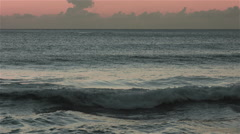 Waves rolling in timelapse sunset in 4K - stock footage