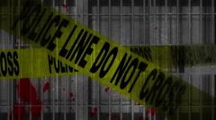 Prison Death Grunge Overlay Loop Stock Footage