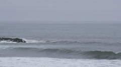 Wide Shot of Pescadero Beach Stock Footage