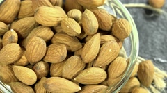 Rotating almonds (loopable) Stock Footage